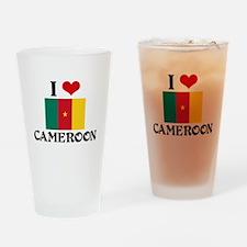 I HEART CAMEROON FLAG Drinking Glass