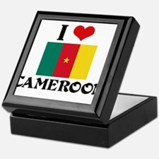 I HEART CAMEROON FLAG Keepsake Box