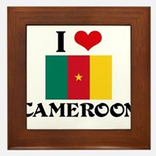 I HEART CAMEROON FLAG Framed Tile