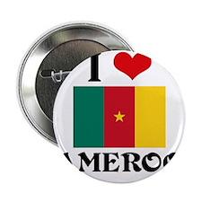 "I HEART CAMEROON FLAG 2.25"" Button"