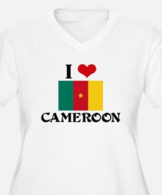 I HEART CAMEROON FLAG Plus Size T-Shirt