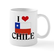 I HEART CHILE FLAG Mug