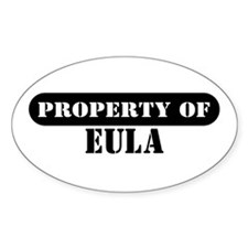 Property of Eula Oval Decal