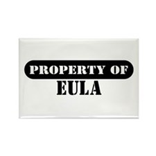 Property of Eula Rectangle Magnet