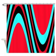 Funky Colourful Red Black Turquoise Treat Shower C