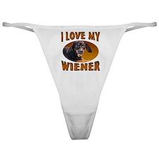 I Love My Weiner Classic Thong