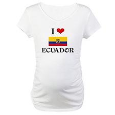I HEART ECUADOR FLAG Shirt