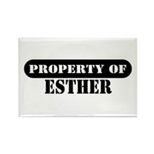 Property of Esther Rectangle Magnet