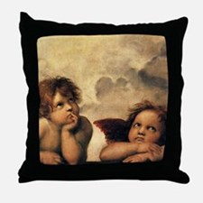 Angels by Rapahel, Vintage Renaissance Art Throw P