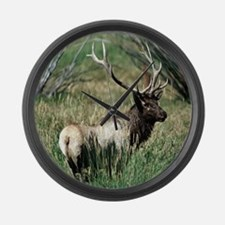 Elk Bull Large Wall Clock