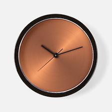 Copper Round Wall Clock