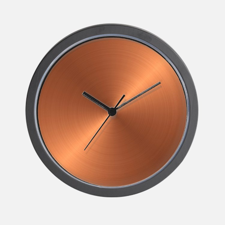 copper clocks copper wall clocks large modern. Black Bedroom Furniture Sets. Home Design Ideas
