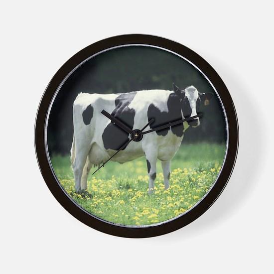Holstein Meadow Round Wall Clock