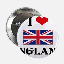 "I HEART ENGLAND FLAG 2.25"" Button"