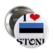 "I HEART ESTONIA FLAG 2.25"" Button"