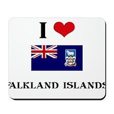 I HEART FALKLAND ISLANDS FLAG Mousepad