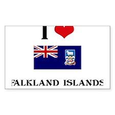 I HEART FALKLAND ISLANDS FLAG Decal