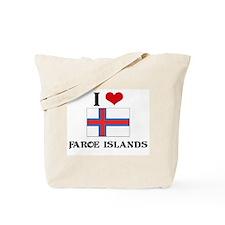 I HEART FAROE ISLANDS FLAG Tote Bag