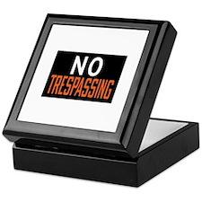 No Trespassing Keepsake Box