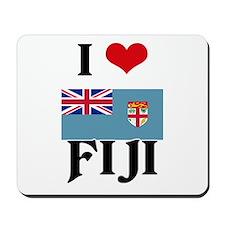 I HEART FIJI FLAG Mousepad