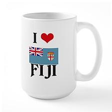 I HEART FIJI FLAG Mug