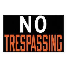No Trespassing Rectangle Decal