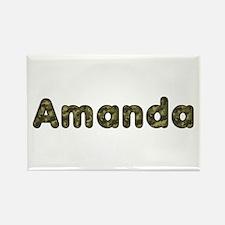 Amanda Army Rectangle Magnet