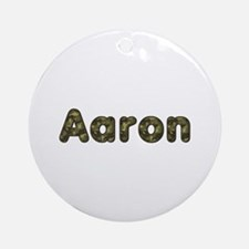 Aaron Army Round Ornament
