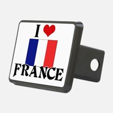 I HEART FRANCE FLAG Hitch Cover