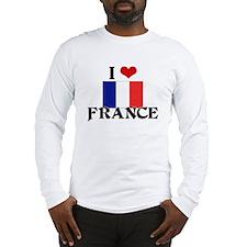 I HEART FRANCE FLAG Long Sleeve T-Shirt
