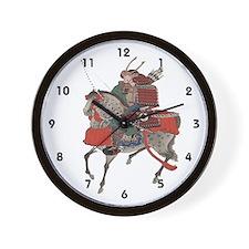 Samurai Horseback Wall Clock