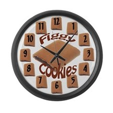 Figgy Cookie Large Wall Clock