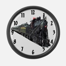 Locomotive Large Wall Clock