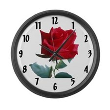 Red Rose Large Wall Clock