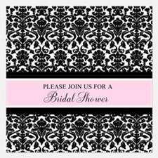 Pink Damask Bridal Shower Invitations