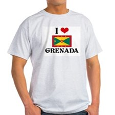 I HEART GRENADA FLAG T-Shirt