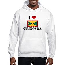 I HEART GRENADA FLAG Hoodie