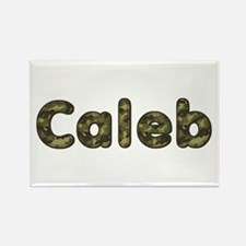 Caleb Army Rectangle Magnet