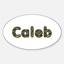 Caleb Army Oval Decal