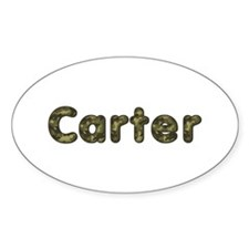 Carter Army Oval Decal