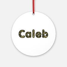 Caleb Army Round Ornament