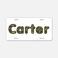 Carter Army Aluminum License Plate