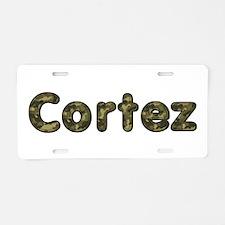 Cortez Army Aluminum License Plate
