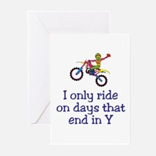 MotoChick Days Greeting Cards (Pk of 10)
