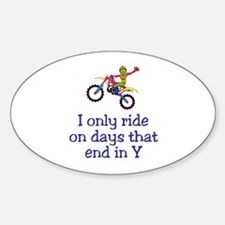 MotoChick Days Oval Decal
