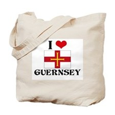 I HEART GUERNSEY FLAG Tote Bag