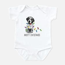 Pointer Christmas Lights Infant Bodysuit