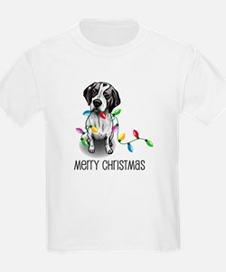 Pointer Christmas Lights Kids T-Shirt