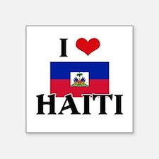 I HEART HAITI FLAG Sticker