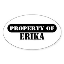 Property of Erika Oval Decal